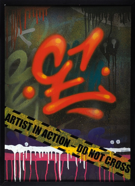 [Первое место на«Flacon Urban Art»] Алексей Се. «Без названия». 2013. Фанера, акрил. 70×50см.