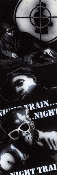 Алексей Се. «Night Train». 2014. Фанера, акрил, глянцевый лак. 20×60см.