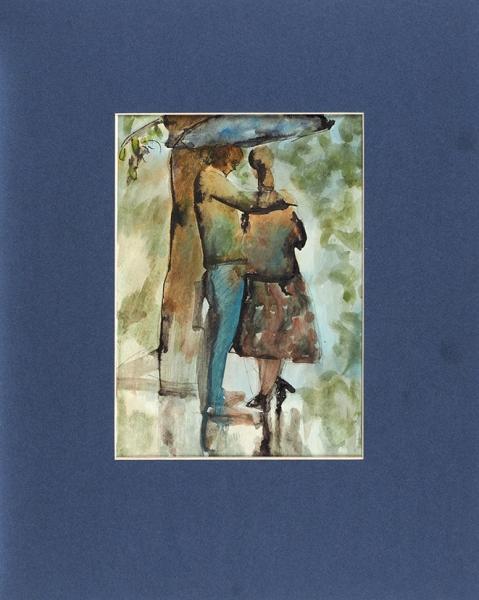 Беззубов Юрий Иванович (1937–2006). Изсерии «Фигуры». 1970-е. Бумага, акварель.30,5×21см.