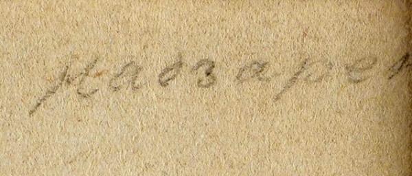 Чернецов Поликарп Григорьевич (1823–1845) «Пейзаж. Лист изпутешествия поСвятой Земле». 1842. Бумага, сепия, графитный карандаш, 27,3×21,2см.