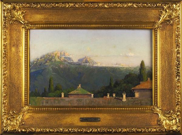 Горохов Иван Лаврентьевич (1863–1934) «Крым. Утро впредгорье». 1894. Холст, масло, 33×53,5см.
