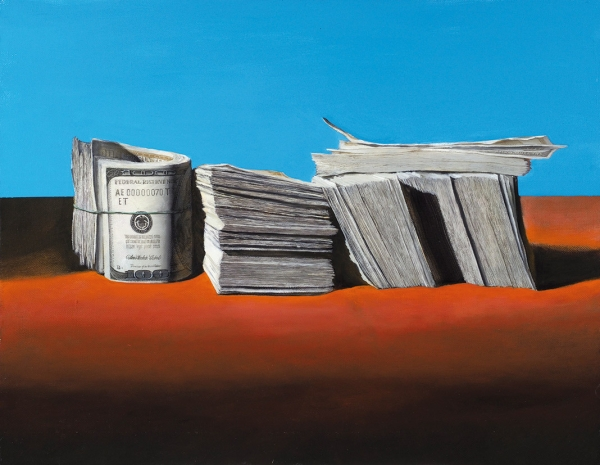 Бломериус Ингеборга. Изпроекта «Деньги». 2015. Холст, масло. 70×90см.