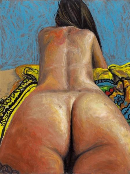 Альбах Артем. «Untitled». 2017. Бумага, масляная пастель. 65x50см.
