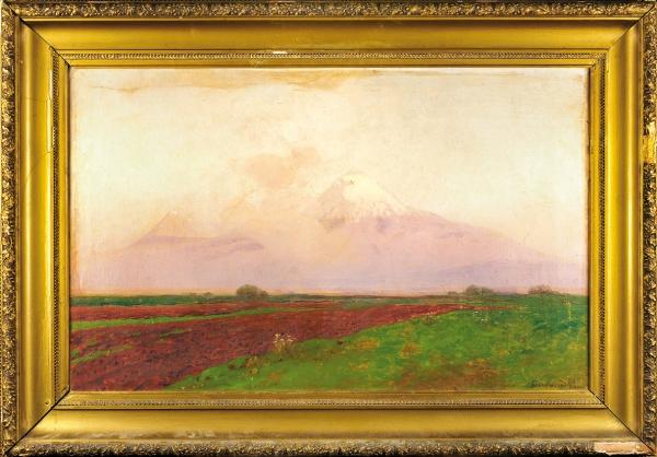 Башинджагян Геворк Захарович (1857–1925) «Арарат. Вспаханное поле». 1916. Холст, масло, 62x97см.