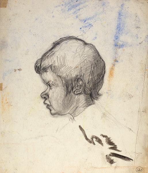 Истомин Константин Николаевич (1887–1942) «Композиция». 1910-е— 1920-е. Бумага, графитный карандаш, акварель, 23,2×26,6см.