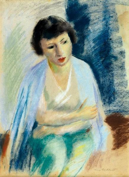 Рохлина Вера (1896–1935) «Женский портрет». 1930-е-1940-е. Бумага, пастель, 58×42см (всвету).