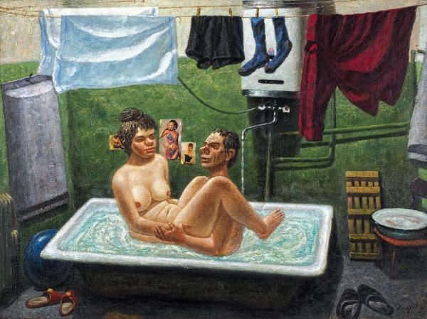 Колотев Василий Иванович (род.1953) «Крылатый Эрос». 1992. Холст, масло, 58×77см.