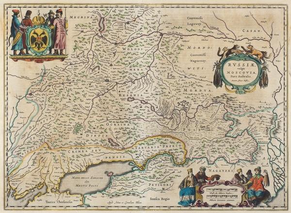 Карта России, впросторечии Московии/ карт. И.Масса. [Russia vulgo Moscovia]. Амстердам, 1640-е гг.