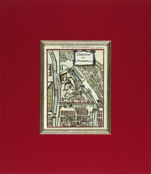План Кремля/ карт. А.Малле. [Chasteau duCremenela. Париж, 1683.