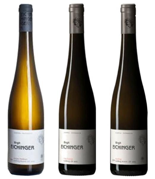 Набор 3хвин вфутляре: Chardonnay Gaisberg, white dry, DAC, 2017, 0,75+ Gruner Veltliner Gaisberg, white dry, DAC, 2016, 0,75+ [Рейтинг: Wine Enthusiast: 94/100] Riesling Gaisberg, white dry, DAC, 2016, 0,75л. [Рейтинг: Wine Enthusiast: 96/100; IWC: Gold]