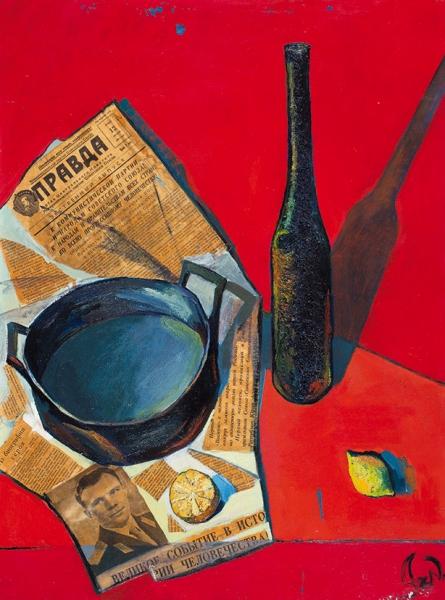Абрамова Ксения. «Правда». 2004. Холст, смешанная техника. 60x80см.