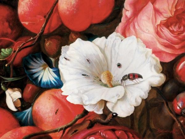 Бломериус Ингеборга. «Рай наземле». Изсерии «Цитата». 2019. Холст, масло. 60x80см.
