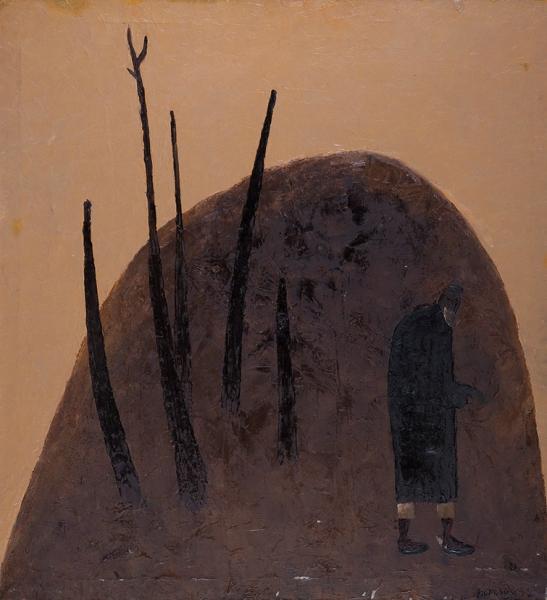 Валиходжиев Ибрагим. «Кексалик». 1990. Холст, масло. 98x90см.