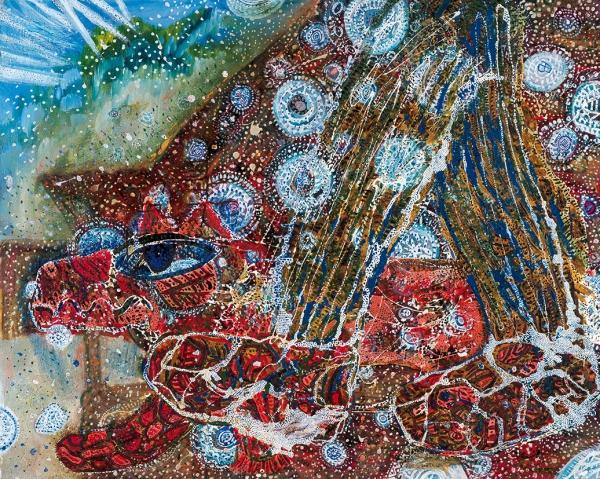 Винокуров А.Г. «Снегокрай». 1990. Холст, масло. 80x100см.