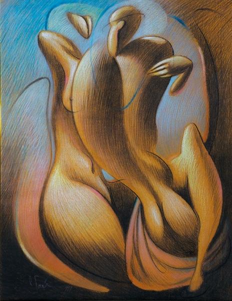 Гай Сергей. «Телесность». 1999. Бумага, пастель. 63x49см.