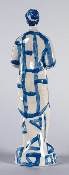 Галямова Гузель. Скульптура «Оксана». 2017. Фарфор, эмаль. Высота 32см.