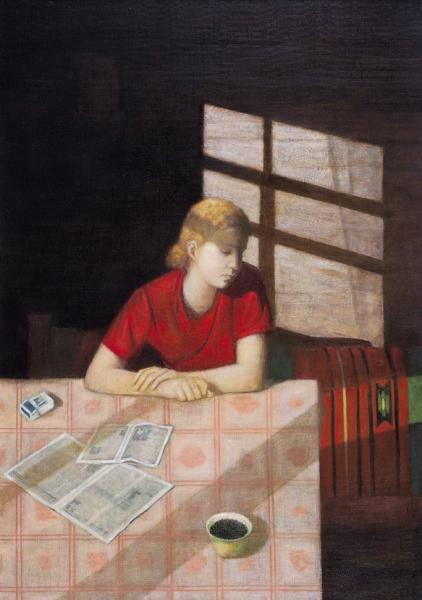 Давыдова Ольга. «Июнь». 2003. Холст, масло. 100x70см.
