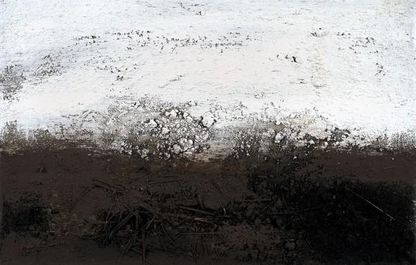 Рошняк Михаил. «Раздумья». 2015. Холст, авторская техника (земля). 42x66см.
