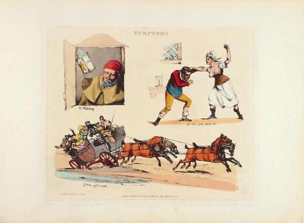 [Альбом] Поводы для смеха. [Symptoms ofbeing amused]. 42гравюры Герни Олкена. Т. 1[иединств.] Лондон, 1822.