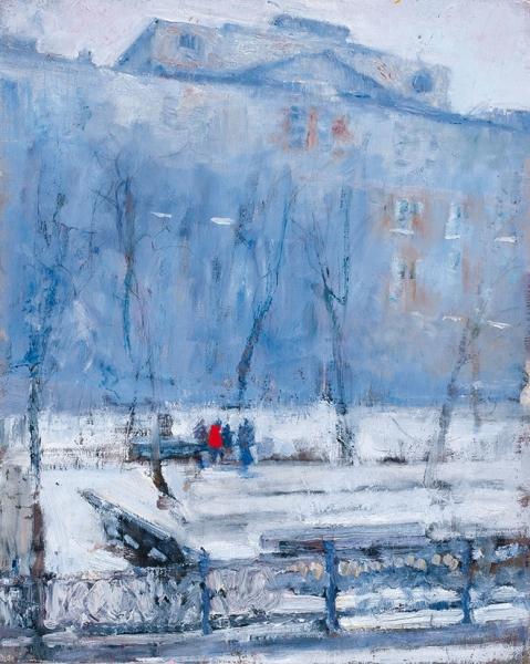 Аникин Василий. «Сретенский». 2008. Холст, масло. 50×40см.