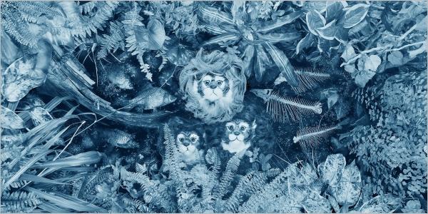 Ван О. «Рыбный день». 2012. Цветная фотопечать. 53×104см.