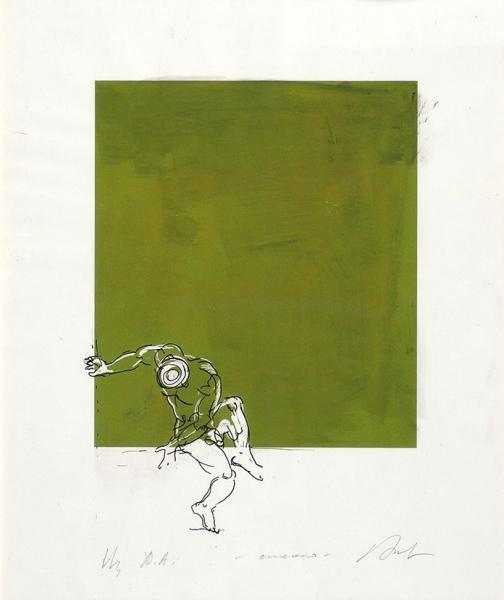 Веселовский Александр. «Движение». 2011. Бумага, автолитография. 23×20см.