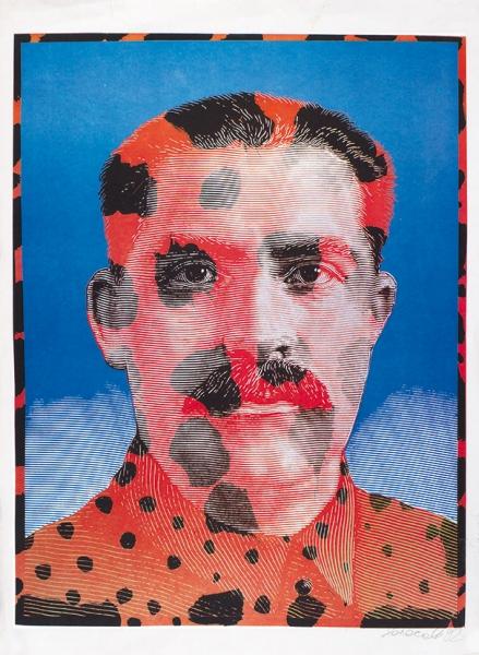 Колосов Андрей. «Без названия». 1992. Бумага, шелкография. 64×88см.