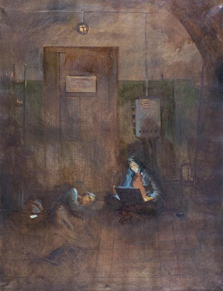 Кучеров Даниил. «Дети подземелья». 2019. Холст, масло. 110×85см.