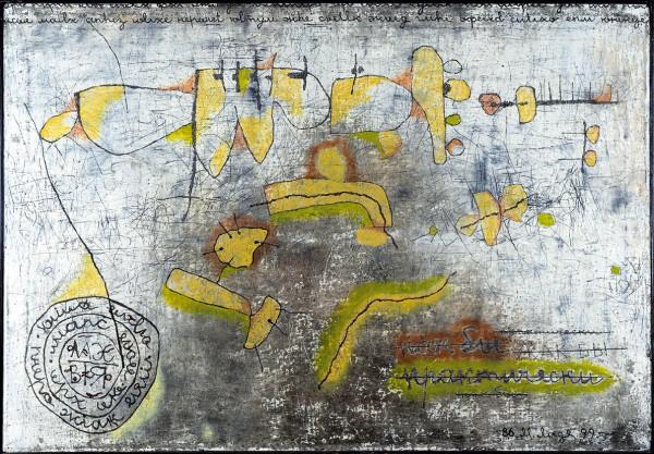Ладейщиков Михаил. «Договор». 2000-е. Холст, масло. 145×100см.