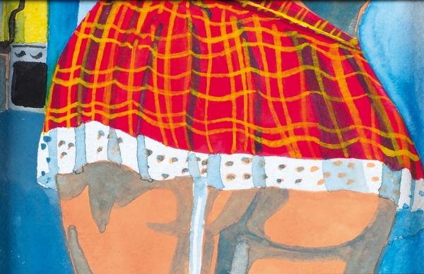 Сетевинец Дарья. Изсерии «Эх, ты!». 4листа враме.2019. Бумага, акварель. 10×15см (3); 15×10см.