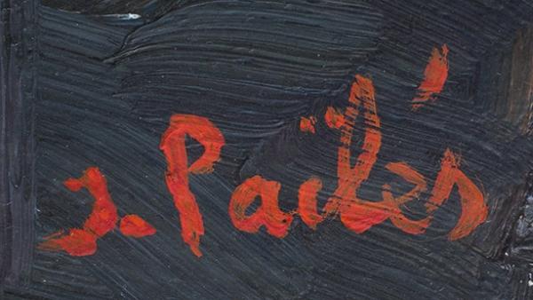 Пайлес Исаак (1895–1978) «Голосующий надороге (Путешествующий автостопом)». 1950-е. Холст, масло, 100x73см.