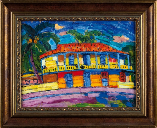 Бритов Ким Николаевич (1925 —2010) «Куба». 1981. Картон, темпера, 22,5x29,5см (всвету).