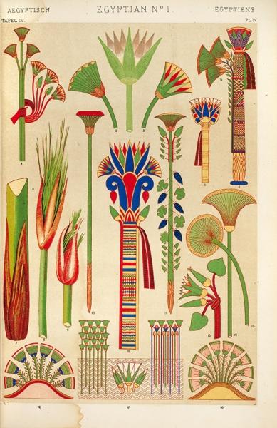 [Альбом оневероятной красоте] Джонс, О.Грамматика орнамента. Иллюстрированный альбом орнаментов, узоров, стилей всех эпох икультур. [Grammatik der ornament. Нанем.яз.] Лондон; Лейпциг, [1860-е гг.].