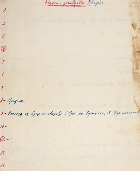 """[У«Захарова»— записные книжки, ав""""Литфонде— дневники] Ерофеев, Вен. Дневниковые записи. Рукопись. [М.], 1974."""