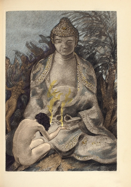 Флобер, Г.Искушение св. Антония/ ил. Э.Шимо. [Latentation deSaint Antoine. Нафр.яз.]. Париж, 1935.