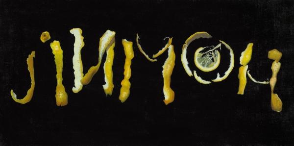 Аракчеева Ева. «Лимон». ИзСерии «Фрукты». 2016. Холст, масло. 40×80см.