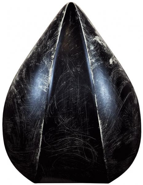 Грушко Александр. Скульптура «Капля». 2018. Орех, бронза, фанера, тонировка. 73x53x40см.