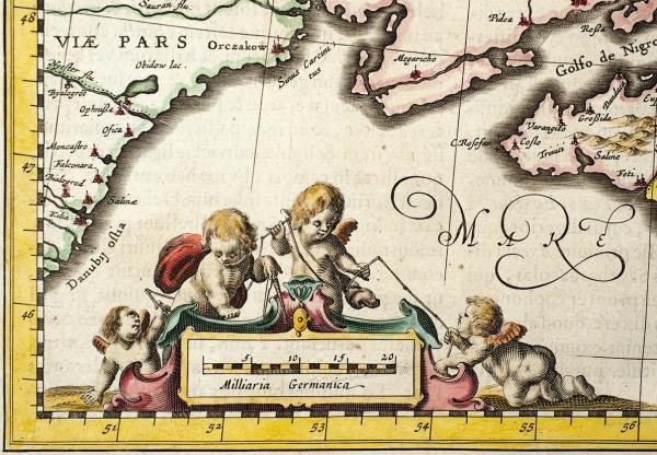 Карта Таврии (Крыма)/ сост. Йоханнес Янссониус. [Tavrica Chersonesus, Hodie Przecopsca etGazara dicitur]. Амстердам, 1666.
