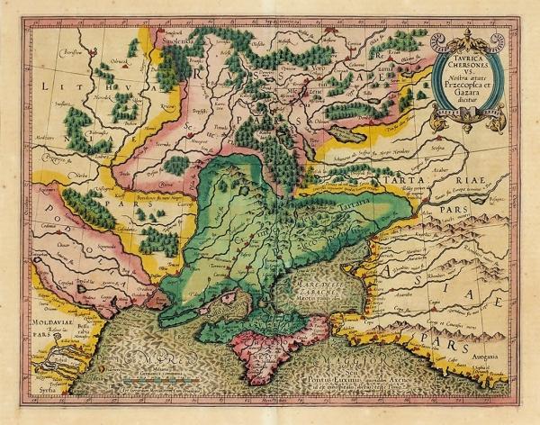 Карта Тавриды Херсонесской, Перекопа иХазарского каганата/ карт. Г.Меркатор. Амстердам: Й.Хондиус, 1606-1607.