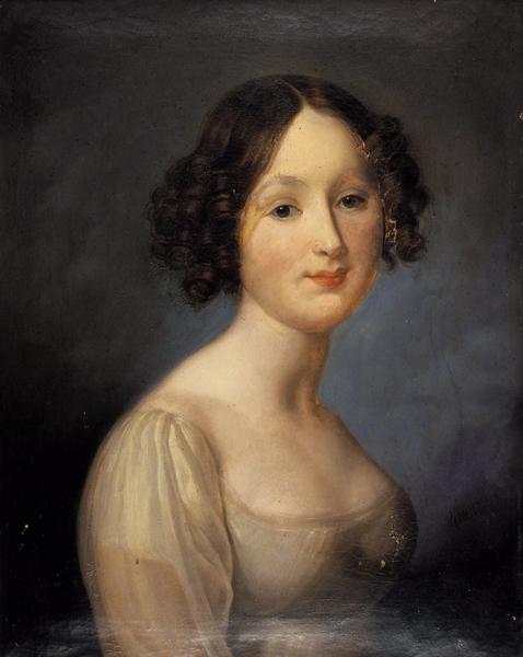 Игин Федор Иванович (1816–1860) «Портрет девушки изрода Ханыковых». 1845. Холст, масло, 61x49см.