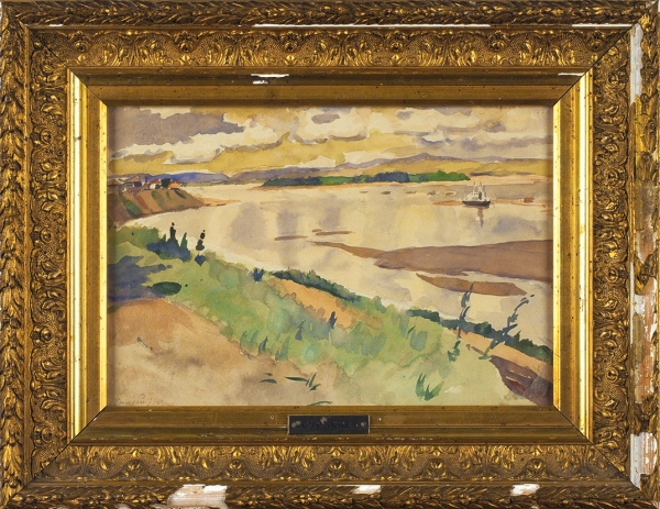 Суриков Василий Иванович (1848–1916) «Енисей». Конец XIXвека. Бумага, акварель, 20,5x30,5см (всвету).