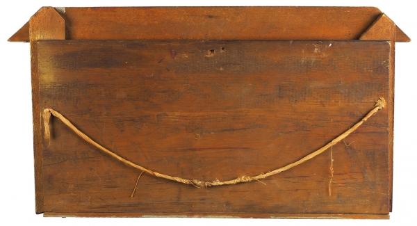 Панно «Ярмарочные музыканты». СССР, Загорск (?). 1930-е. Дерево, резьба, роспись, 41x78см.