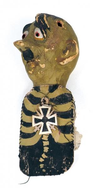 Куклы для фронтового театра. 3штуки. Начало 1940-х. Папье-маше, роспись, ткань.