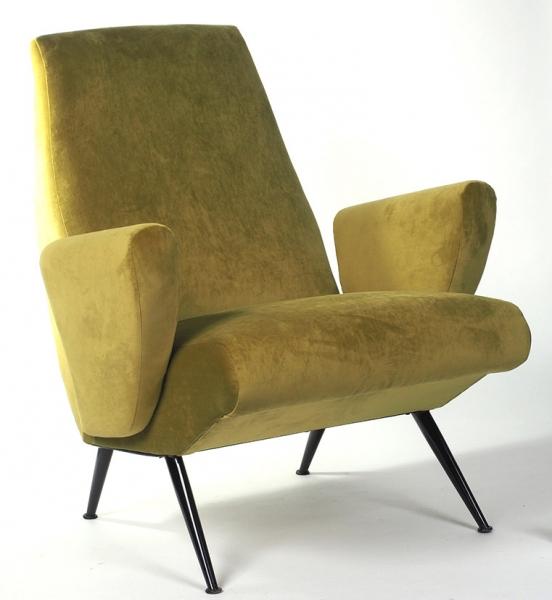Кресло, исполненное встилистике ар-деко для круизного лайнера. Дизайнер Nino Zoncada. Италия, 1950-е гг.