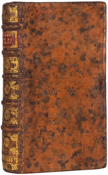 [Шедевр книгопечатания] Эразм Роттердамский. Похвала глупости/ гравюры Ганса Гольбейна. [Eloge DeLaFolie. Нафр.яз.] Амстердам: Francois l'Honore, 1745.