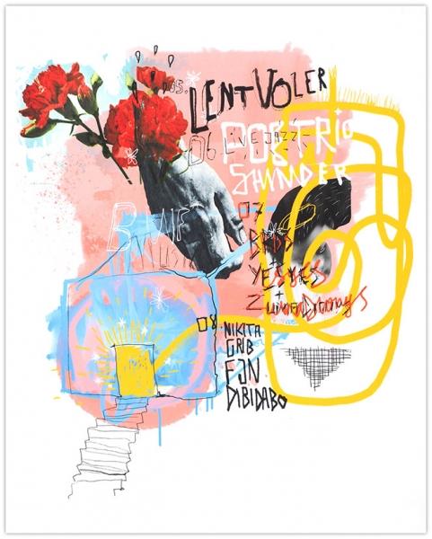 Aleх Q. Hattomonkey. «Вig Wine Freaks Music Posters». 2019. Картон, цифровая печать.49,5 × 40см.