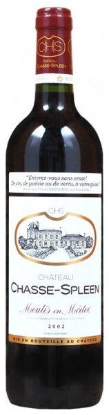 Chateau Chasse-Spleen 2002, red dry, 13%, 0,75л.