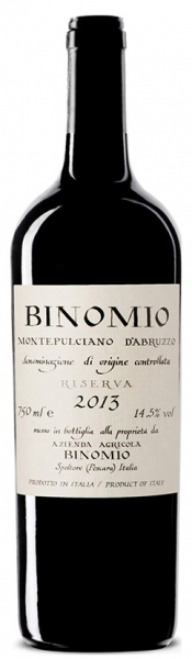 Montepulciano d'Abruzzo Riserva Binomio, red dry, 2014, 14,5%, 0,75л.