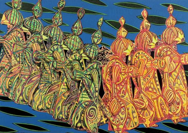 Бартенев Андрей. Сливовая карамель. 1995г. 54×38см. Экземпляр №23из30с подписью художника.