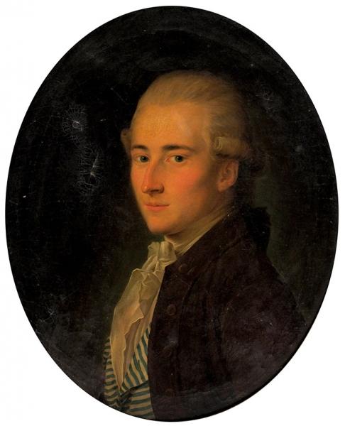 Делапьер Николя Бенжамен (Nicolas Benjamin Delapierre) (1739-1802) «Портрет молодого человека». 1780-е. Холст, масло, 59,6×49,5см (овал).